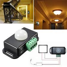 how to adjust motion sensor light switch dc 12 24v mini infrared pir motion sensor switch detector for led