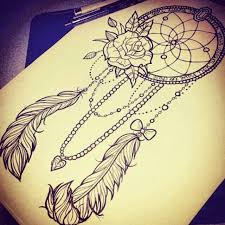 drawn dreamcatcher love heart pencil and in color drawn