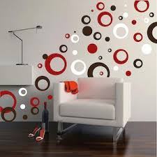 Contemporary Rings  Dots Wall Decals Trendy Wall Designs - Wall design decals