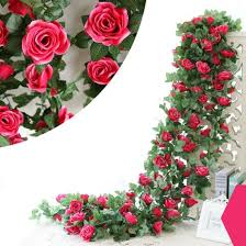 Silk Flowers Mylifeunit Artificial Silk Flowers Rose Vine Floral Garland For