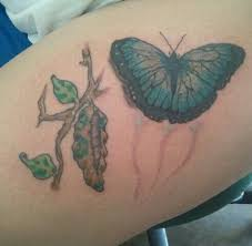 butterfly leaving the cocoon tattoos by me