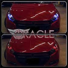halo lights for dodge charger 2013 2013 2017 dodge dart colorshift surface mount led fog light halo