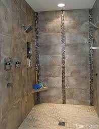 mosaic tiles in bathrooms ideas mosaic tile adds interest to a shower design housetrends