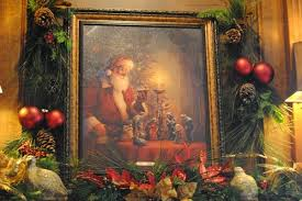 santa and baby jesus picture lovely painting o santa and baby jesus
