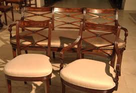 Antique Dining Sets Mahogany Cross Back Dining Chairs Fine Antique Reproductions