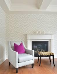Meredith Heron Design Brooklin Family Room Thibaut Etosha - Wallpaper for family room