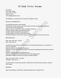 Sample Resume For Customer Service With No Experience by Teller Job Description Assistant Head Teller Job Description