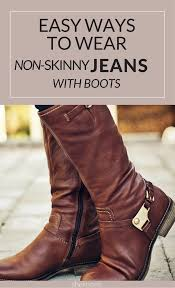motorcycle in boots how to tuck non skinny jeans into boots without looking like a