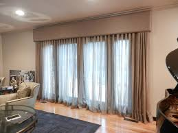 linen window treatment cornice boards great way to tone down the