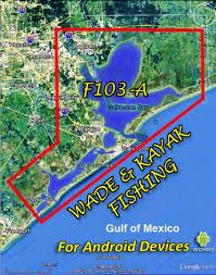 f103 a galveston bay wade kayak fishing map app hook n