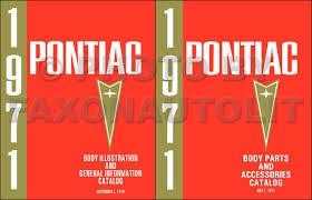 1970 pontiac service manual original
