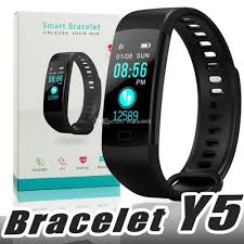 bracelet iphone images Y5 smart bracelet wristband fitness tracker color screen heart jpg