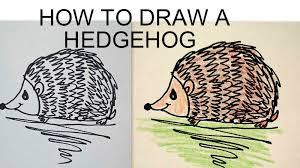 draw a hedgehog easy drawing lessons for kids youtube