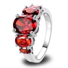 pretty rings pictures images New fashion pretty 925 silver inlay garnet ring gift for women usa jpg