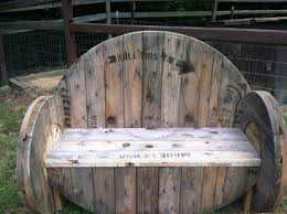 Seating Out Of Pallets by Bench Made Out Of Spools Wire Spools U0026 Pallets Pinterest