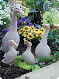 granite effect duck duckling garden statues baby