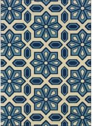 Modern Blue Rug Blue Snowflake Indoor Outdoor Rug
