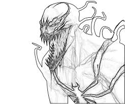 anti venom coloring pages
