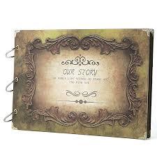 Vintage Scrapbook Album Amazon Com Sicohome Scrapbook Album 10 5x7 5inch Our Story Yellow