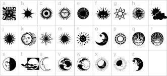 sun n moon regular 3d fonts brush fonts decorative fonts for