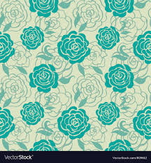 teal roses seamless floral pattern with roses royalty free vector image