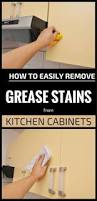 clean kitchen cabinets grease how to easily remove grease stains from kitchen cabinets