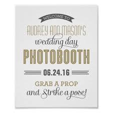 Photo Booth Sign Custom Wedding Photo Booth Sign Antique Gold Zazzle Com