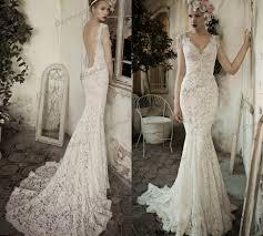beige wedding dress vestido de noiva vintage backless wedding dresses v neck