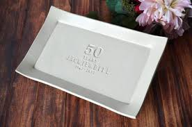 50th anniversary plate personalized 50th anniversary gift personalized plate with names date gift bo