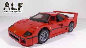 ferrari j50 rear lego creator 10248 ferrari f40 lego speed build review youtube
