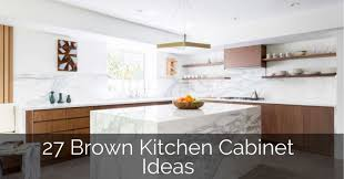 white kitchen countertops with brown cabinets 27 brown kitchen cabinet ideas sebring design build