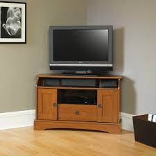 furniture brown wooden tv stand and media cabinet with open shelf