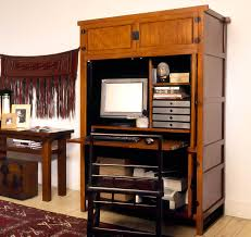Wood Computer Armoire by Furniture L Shaped Desk With Hutch For More Efficient Workspace