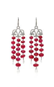 Ralph Lauren Chandelier Fashion Earrings Moda Operandi Ruby And Diamond Chandelier Earrings By Martin Katz