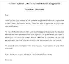 Rejection Letter To Candidate 27 rejection letters template hr templates free premium