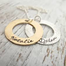 gold necklace personalized images Gold and silver mother 39 s necklace personalized jewelry 2 kids jpg