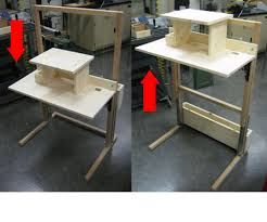 Used Adjustable Height Desk by Diy Adjustable Height Desk 31 Cute Interior And U2013 Cocinacentral Co