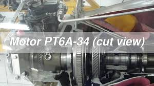 pratt whitney pt6a turboprop turbine animation youtube pt6a 34 cut view youtube
