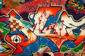 red white and blue graffiti wall mural muralswallpaper co uk