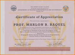 appreciation award letter sample 5 sample certificate of recognition for officers sample of invoice sample certificate of recognition for officers picture jpg