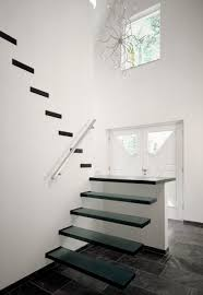 floating straight stairs glass tre 107 glass stairs from