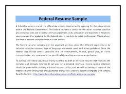 federal resume samples u2013 inssite