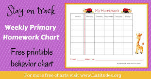 printable homework incentive charts free weekly homework sticker chart primary acn latitudes