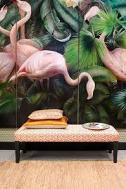 si e de mural tropical flamingo peel stick wallpaper hawaii plant forest