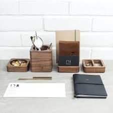 Desk Accessory Set by Solid Wood Desk Tidy Modular Set By Man Gun Bear