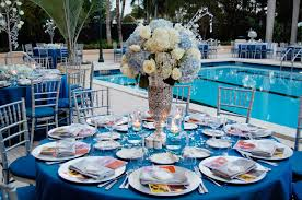 blue centerpieces national flowers created three centerpiece designs each with a