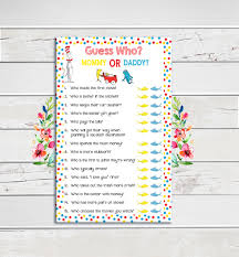 dr seuss baby shower game guess who coed baby shower game