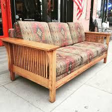 sold desert bones mission style oak sofa u2014 casa victoria
