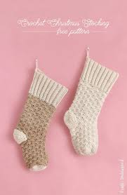 crochet stocking pattern free tutorial consumer crafts