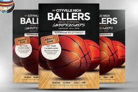 basketball c brochure template basketball flyer template flyer templates creative market